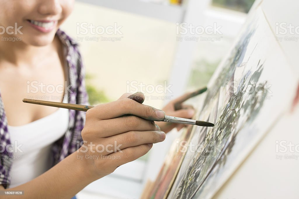 Talented artist royalty-free stock photo