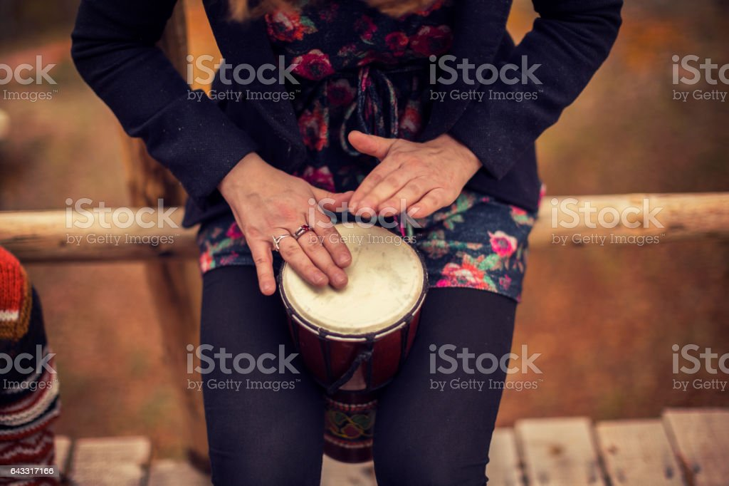 Talented girl stock photo