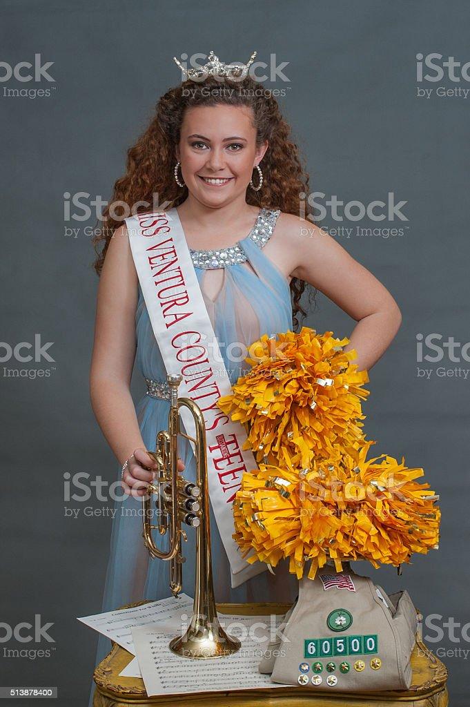 Talented Miss Ventura County Teen stock photo