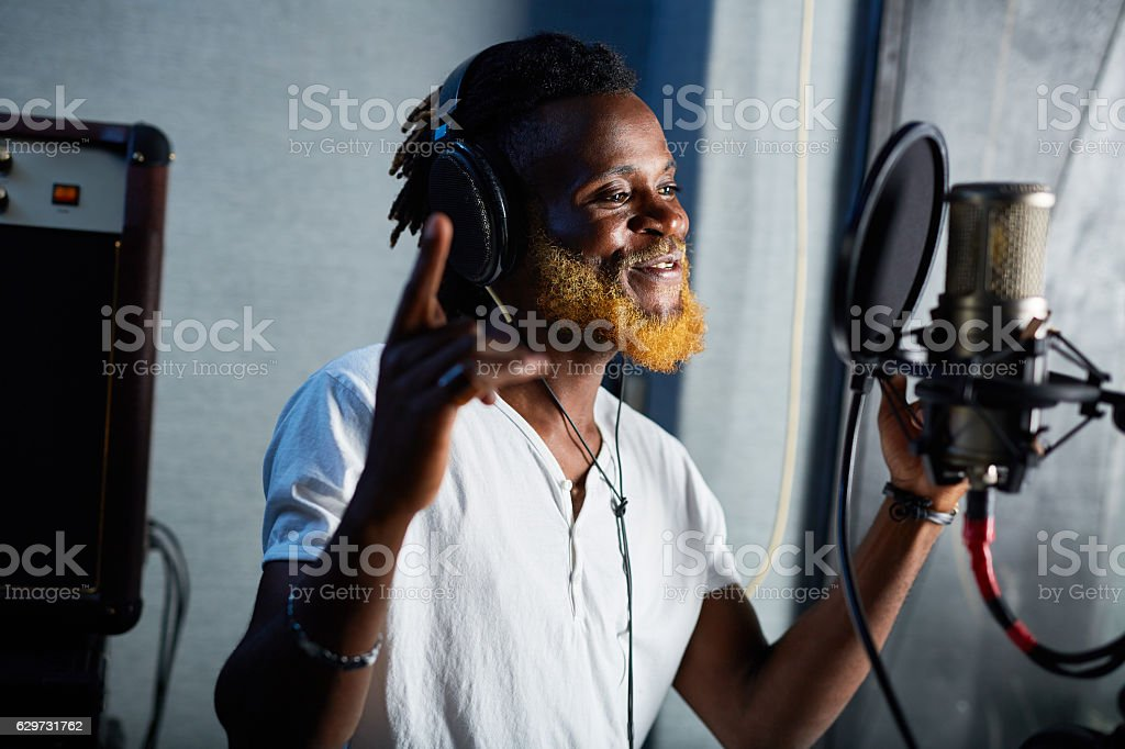 Talented singer stock photo