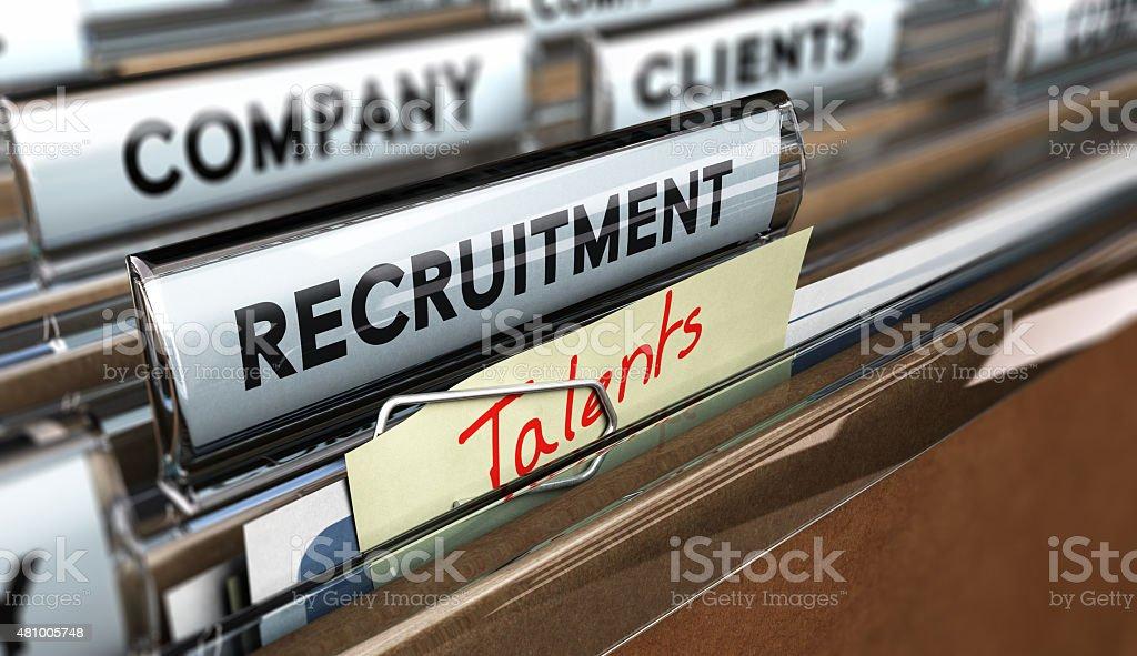 Talents recruitment Agency stock photo
