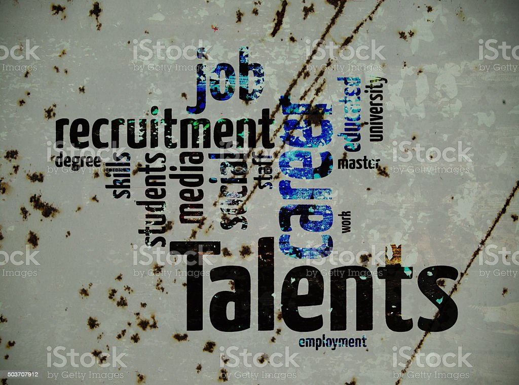 talents recruitment stock photo