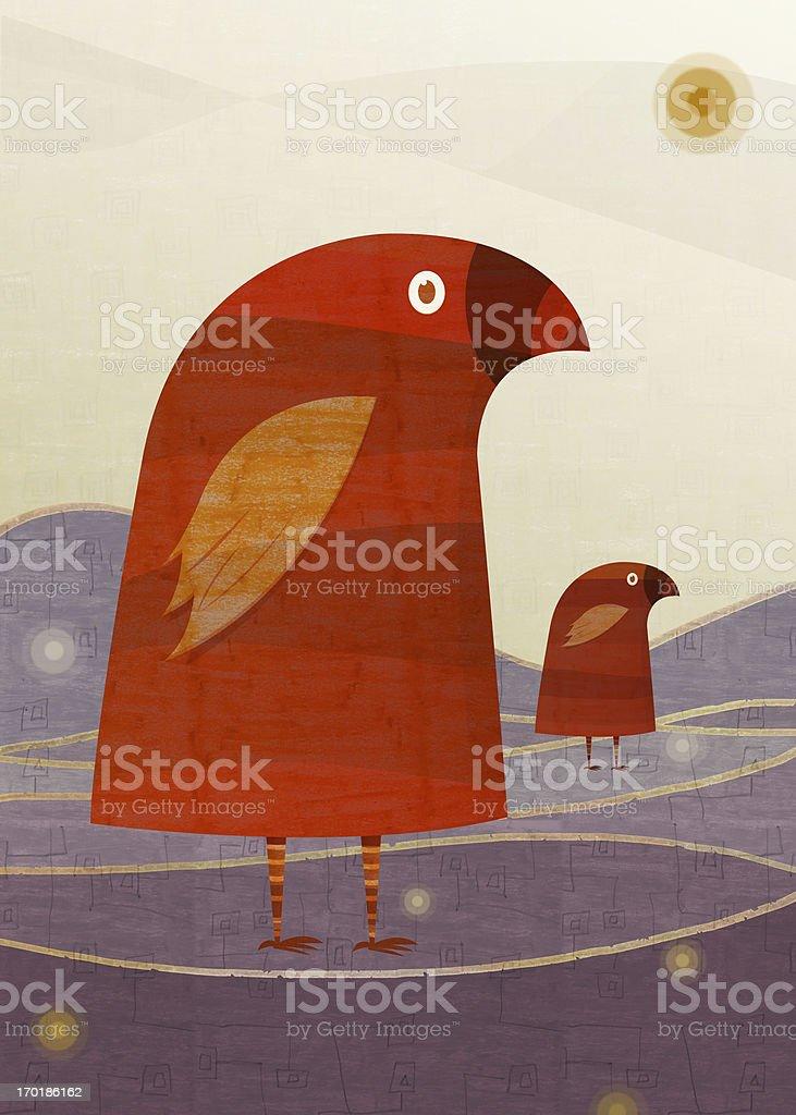 Tales Birds. royalty-free stock photo