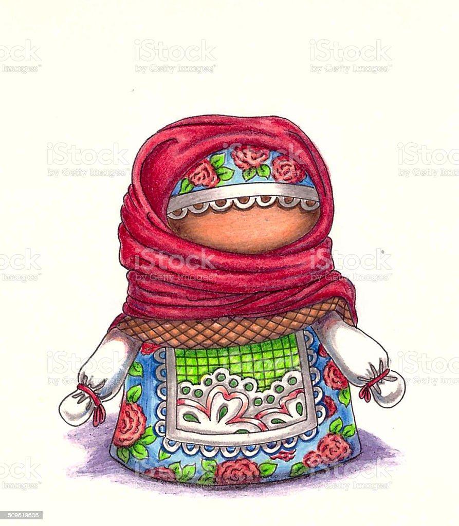 Talisman, amulet dolls. Russian folk crafts stock photo