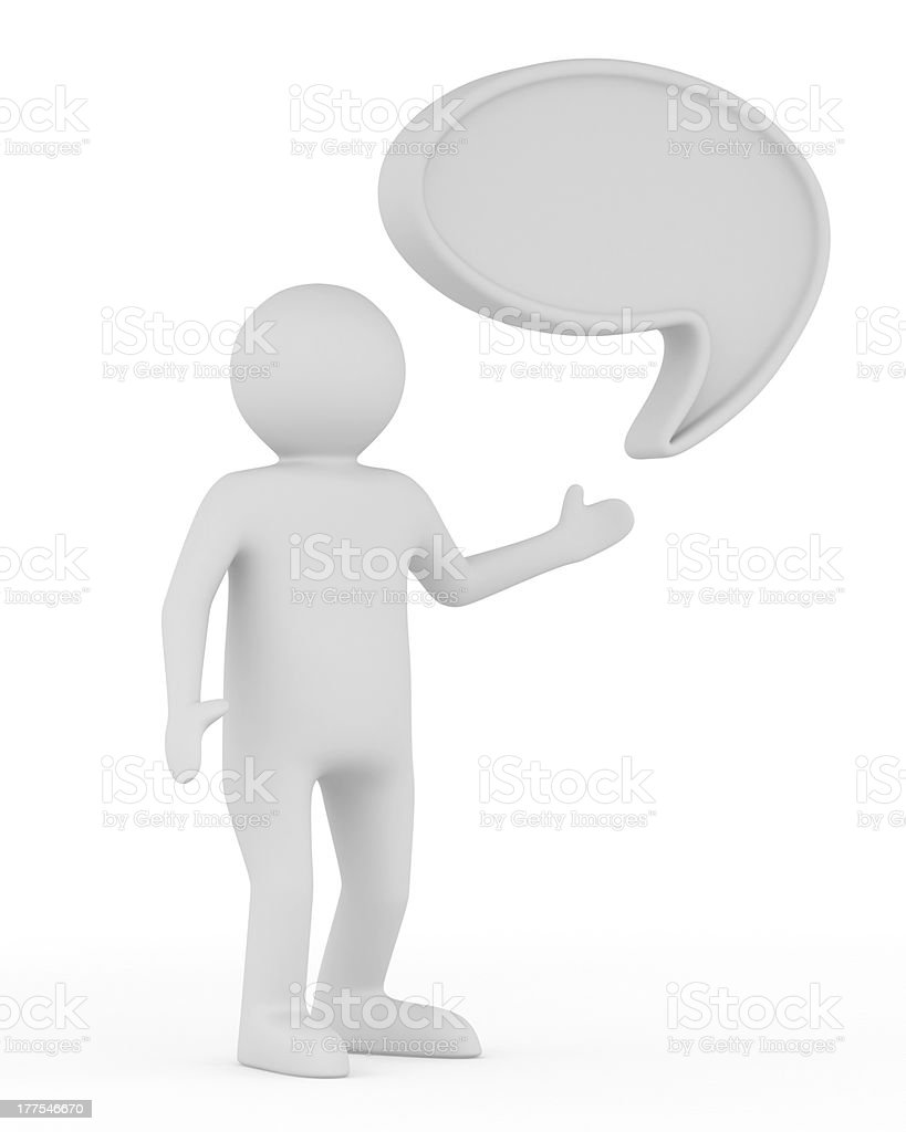 talk balloon on white background. Isolated 3D image royalty-free stock photo