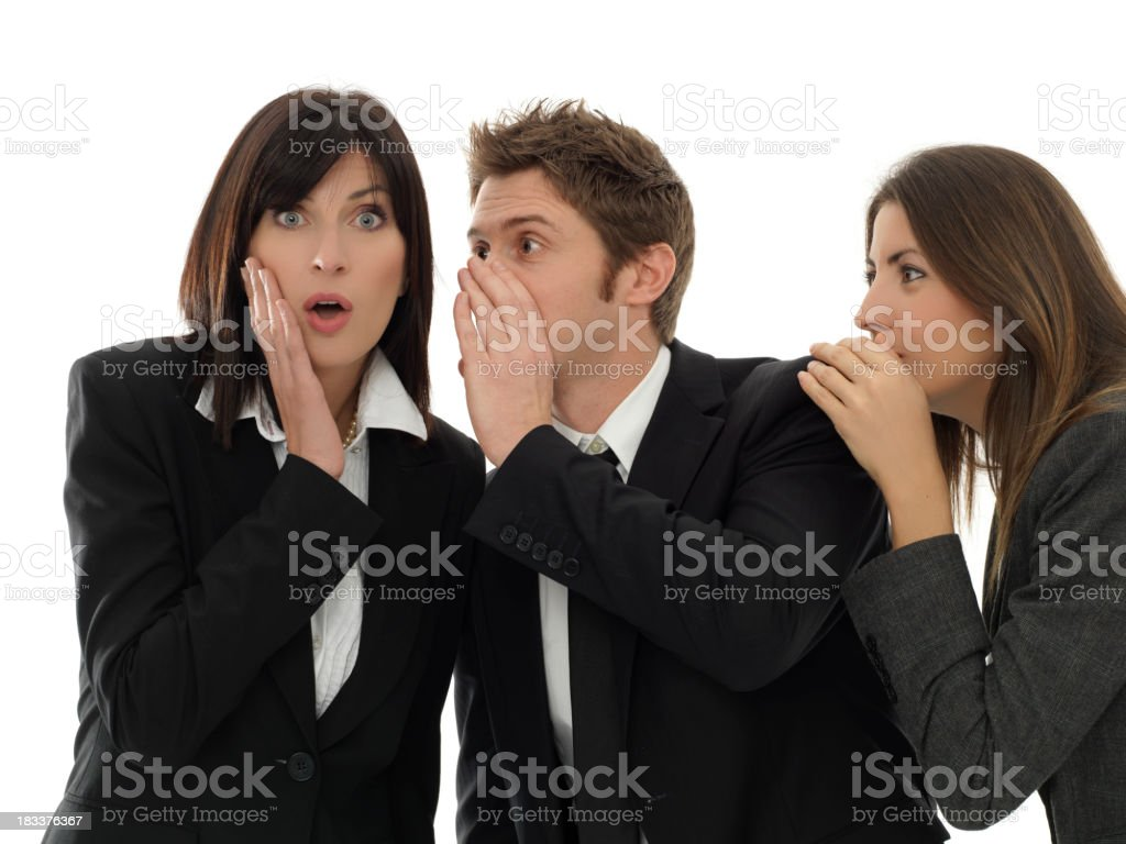 talk in your ear royalty-free stock photo