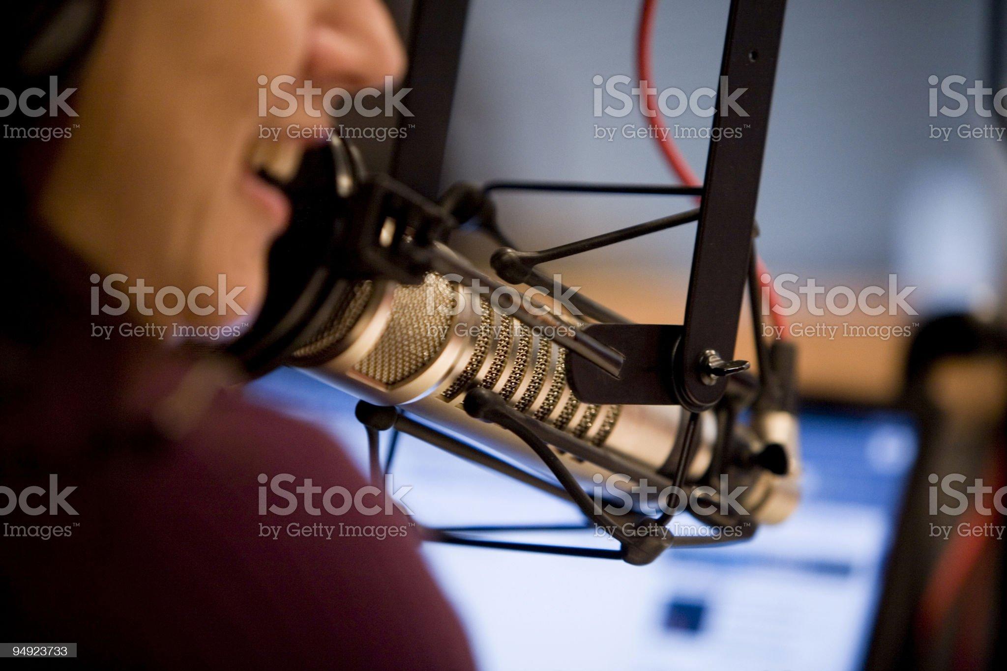 Talk Radio Computer On Air Microphone Talker royalty-free stock photo