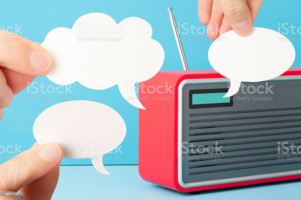 Talk Radio stock photo