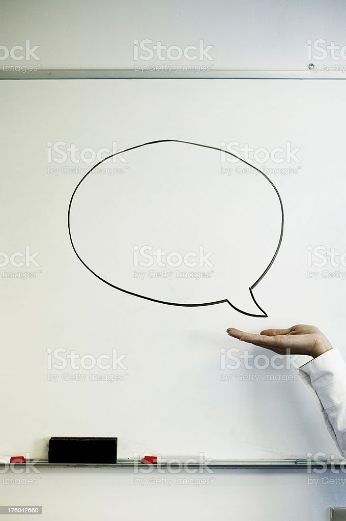 Talk To My Hand royalty-free stock photo