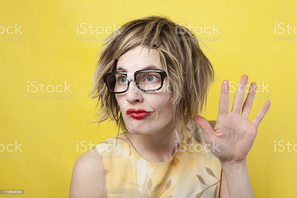 Talk To The Hand Geek royalty-free stock photo
