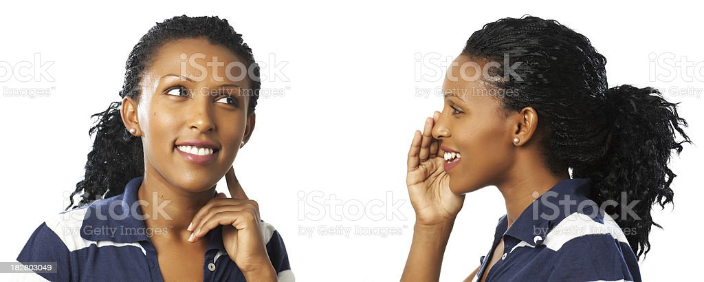 Talk to yourself. stock photo