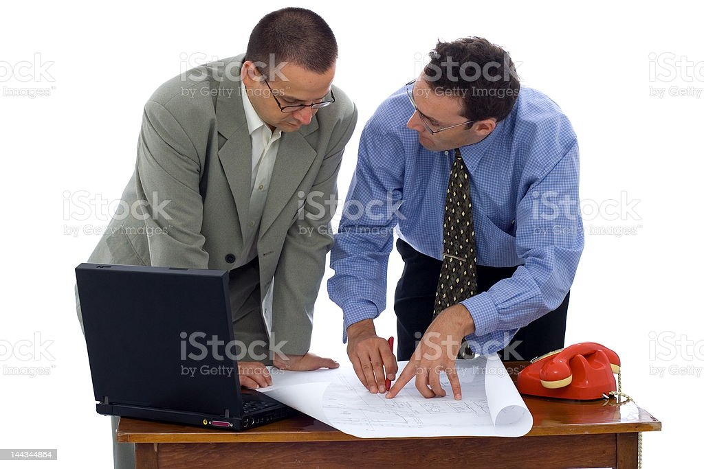 Talking about the project royalty-free stock photo