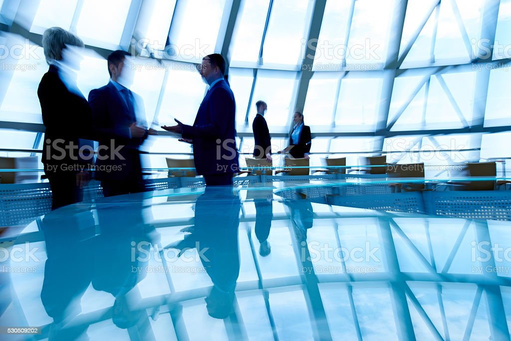 Talking business people stock photo