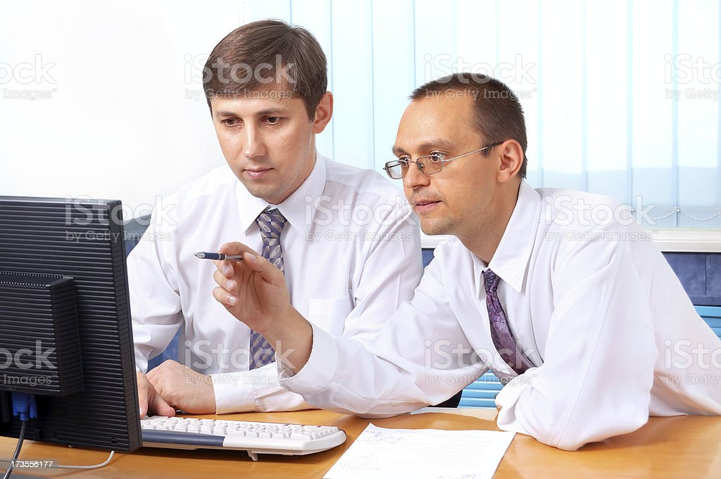 Talking Businessmen royalty-free stock photo