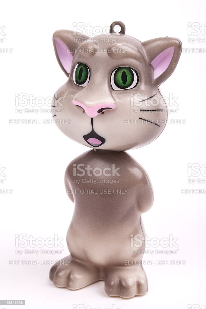 Talking cat Tom royalty-free stock photo