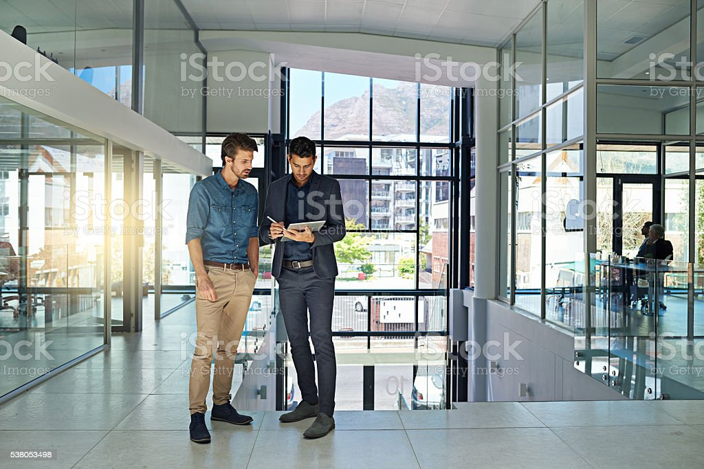 Talking digital strategy stock photo