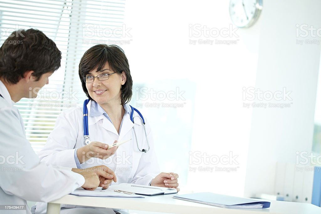 Talking doctors royalty-free stock photo