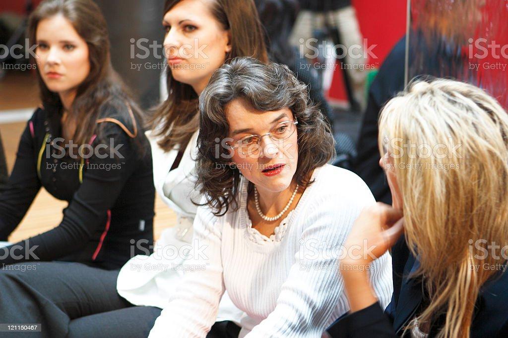 Talking in a break royalty-free stock photo