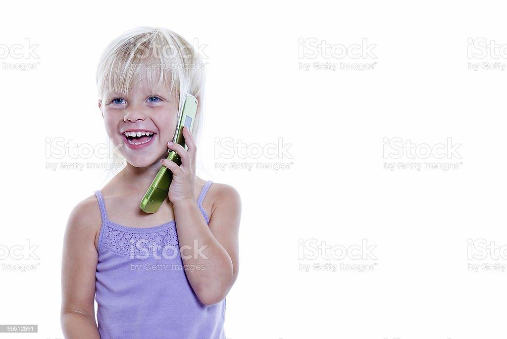 Redet mit Handy Lizenzfreies stock-foto