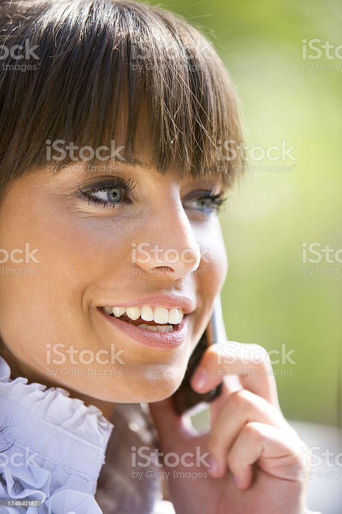 Talking on cellphone royalty-free stock photo