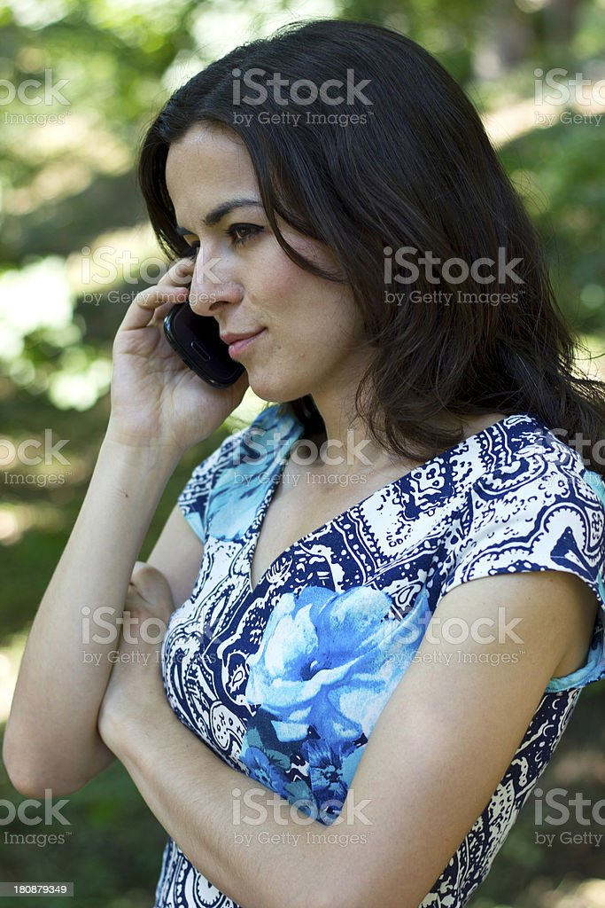 talking on the phone royalty-free stock photo