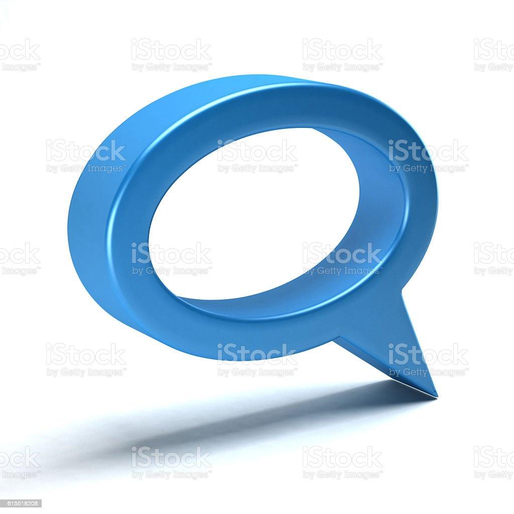 Talking Symbol. 3D Render Illustration stock photo