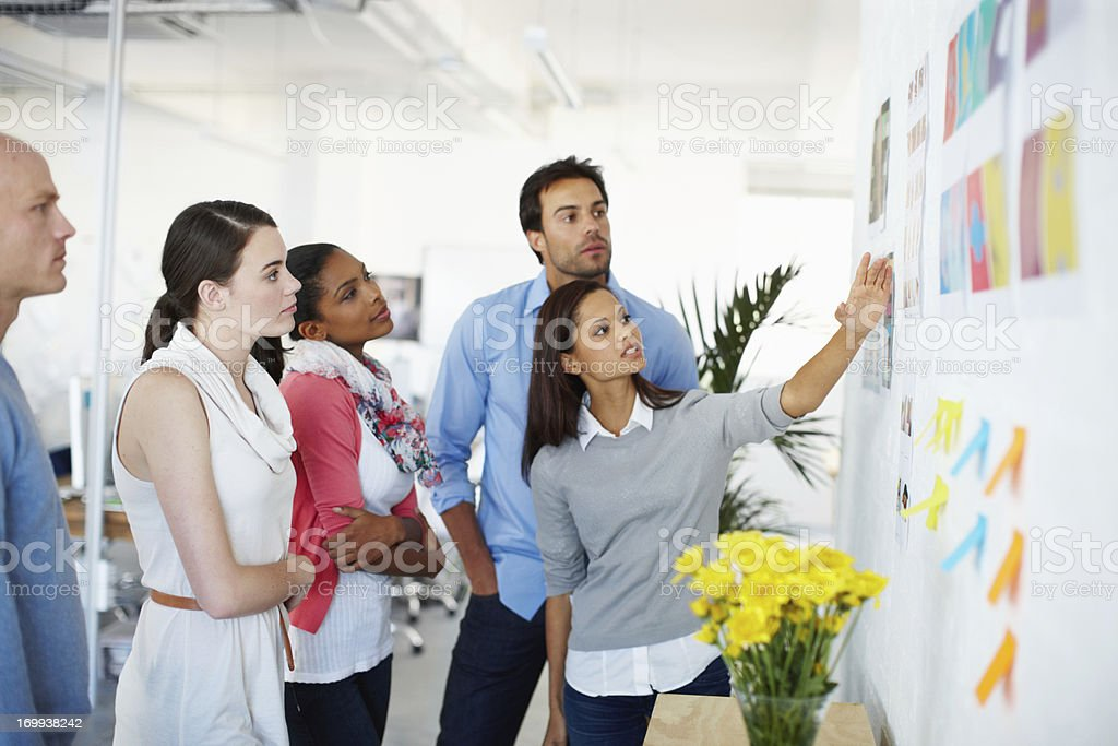 Talking through the design process stock photo