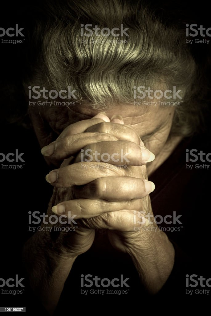Talking to god royalty-free stock photo