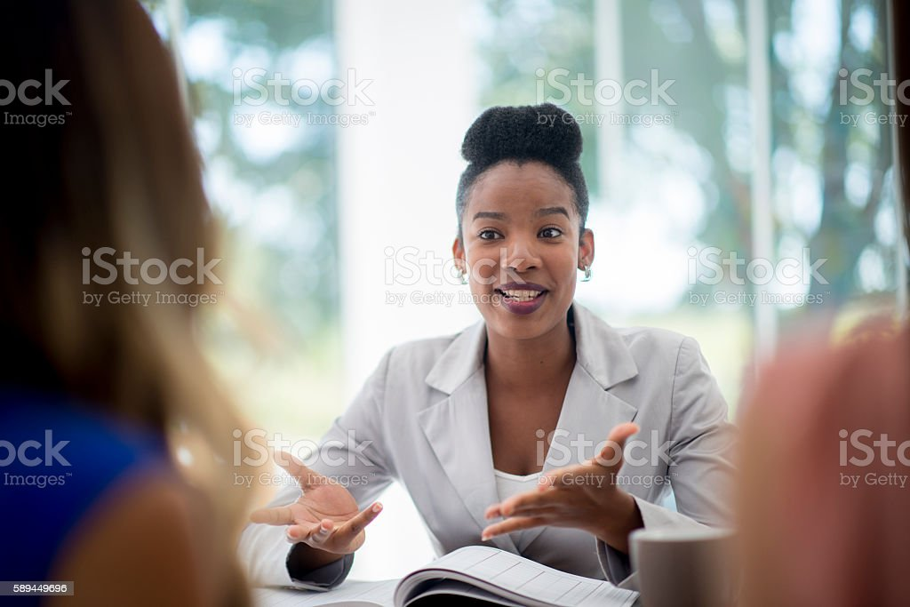Talking to New Employees stock photo