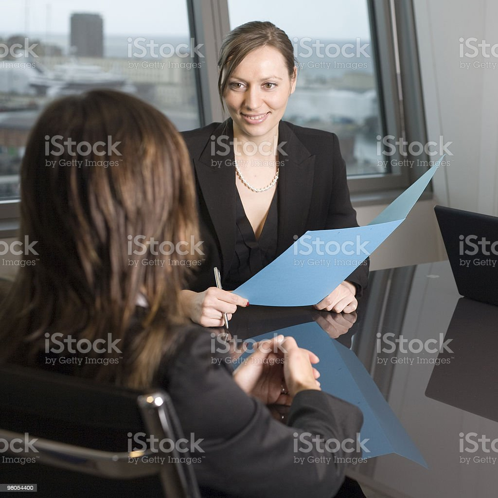 Talking with costumer royalty-free stock photo