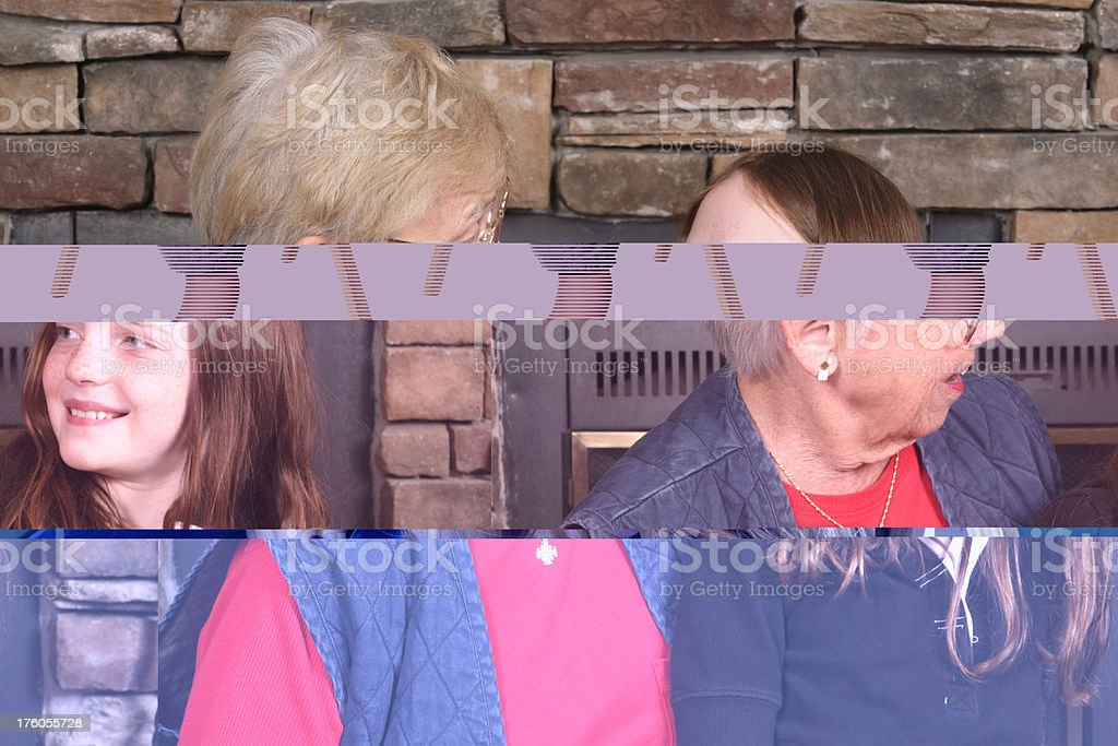Talking with Grandma royalty-free stock photo