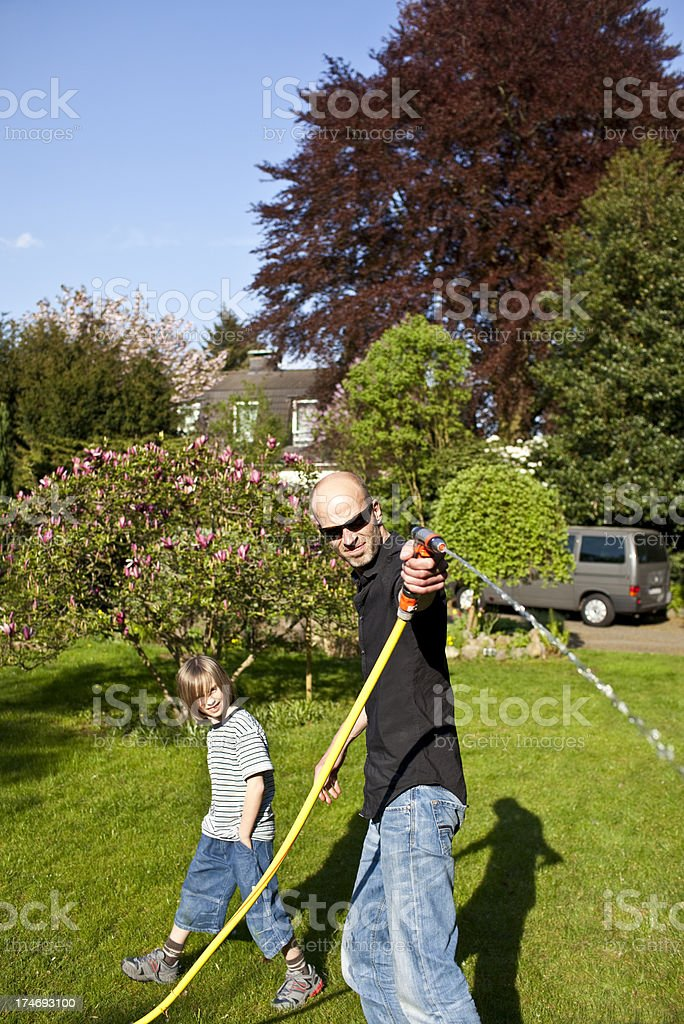 tall and small joker royalty-free stock photo