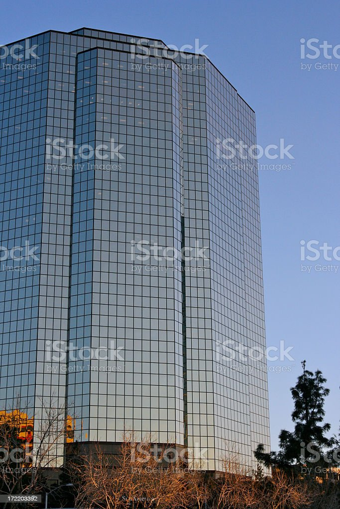 Tall Blue Building royalty-free stock photo