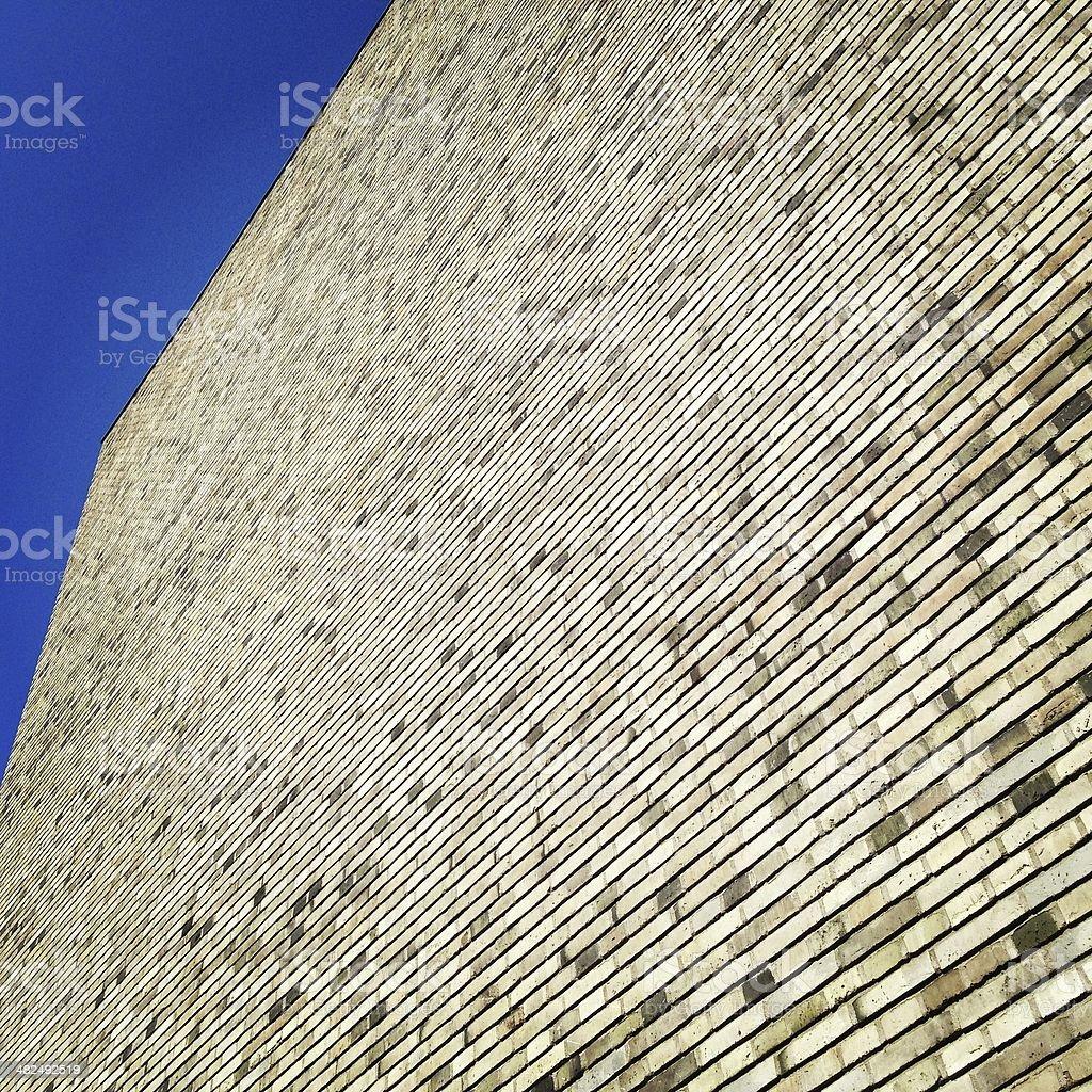 Tall Brick Wall stock photo