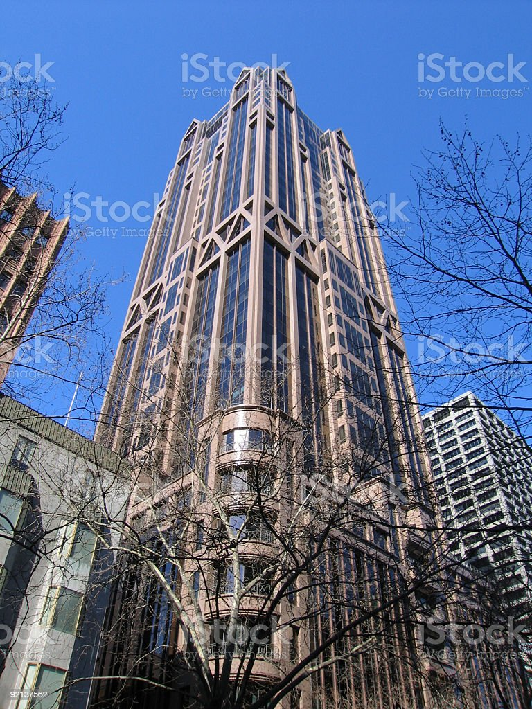 Tall building in CBD (Melbourne) royalty-free stock photo