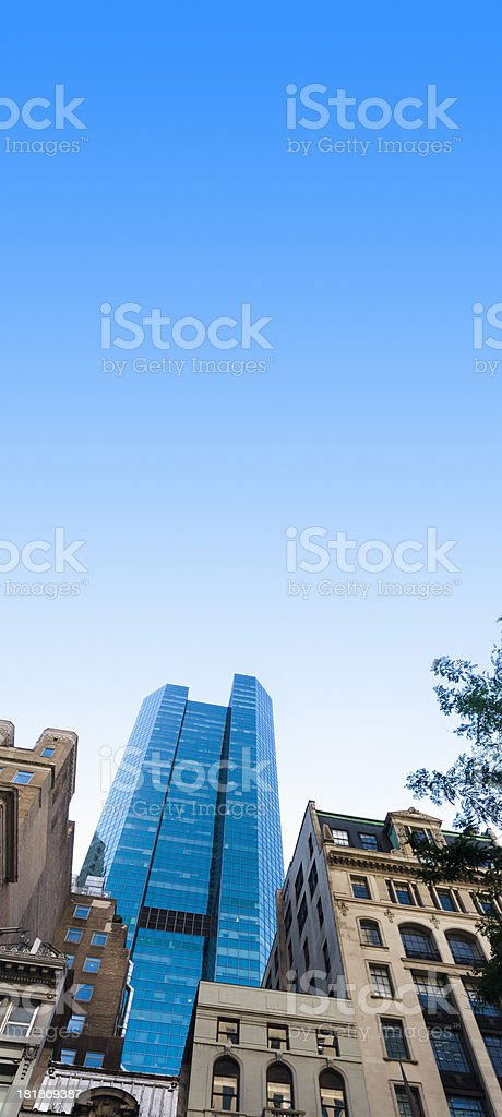 Tall building on manhattan royalty-free stock photo