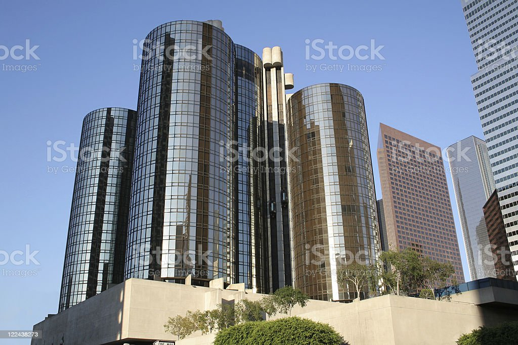 Tall building with reflective glass windows royalty-free stock photo