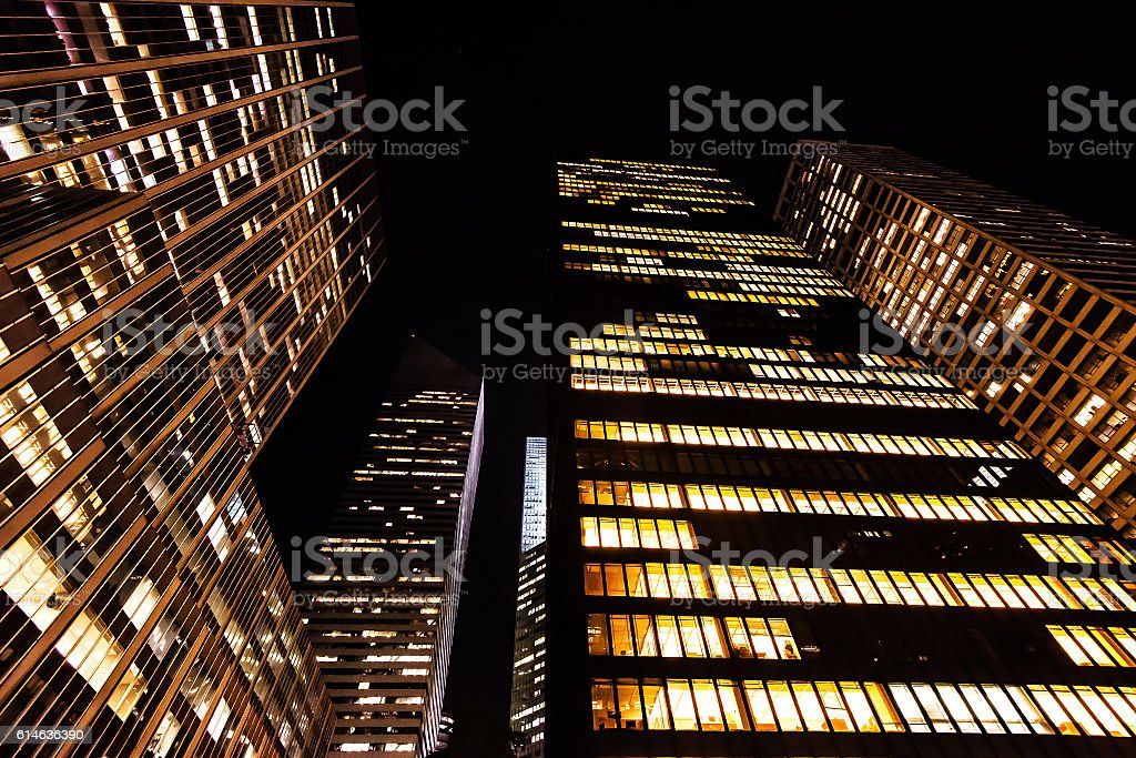 Tall buildings from within Manhattan stock photo