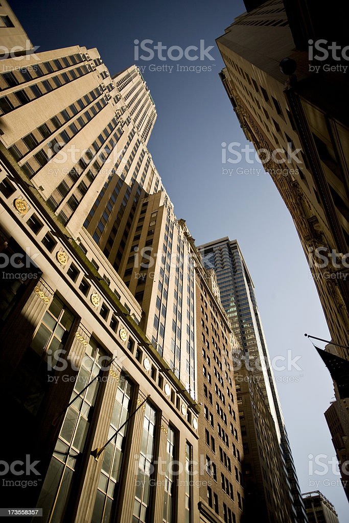 Tall buildings in the financial district royalty-free stock photo