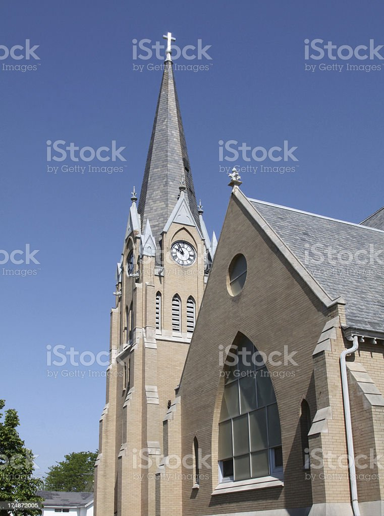 Tall Church Steeple royalty-free stock photo