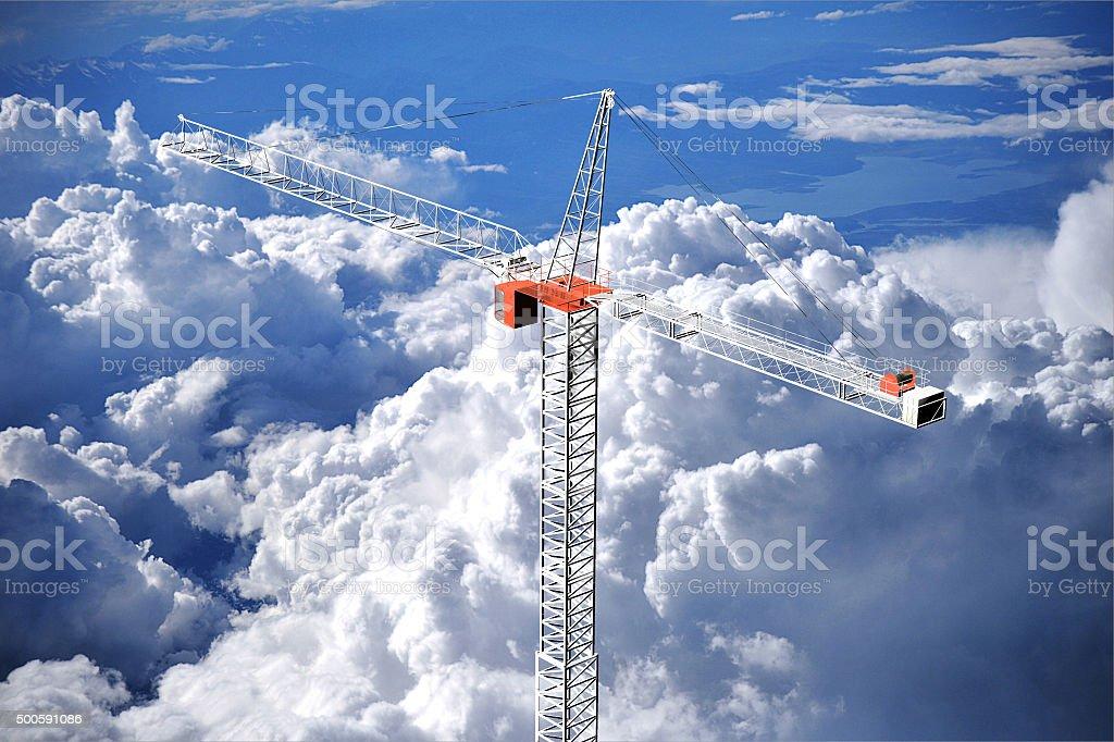 tall crane stock photo