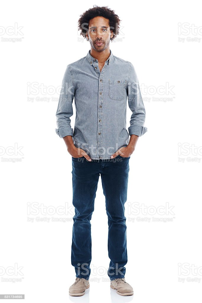 Tall, dark and handsome stock photo