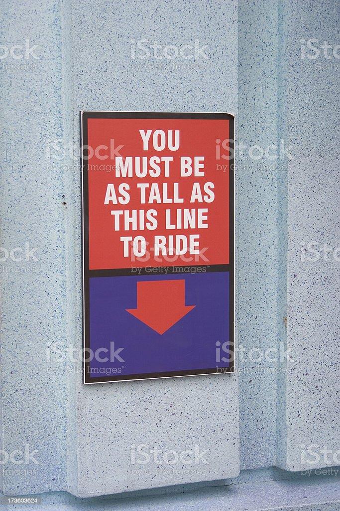 Tall Enough? stock photo