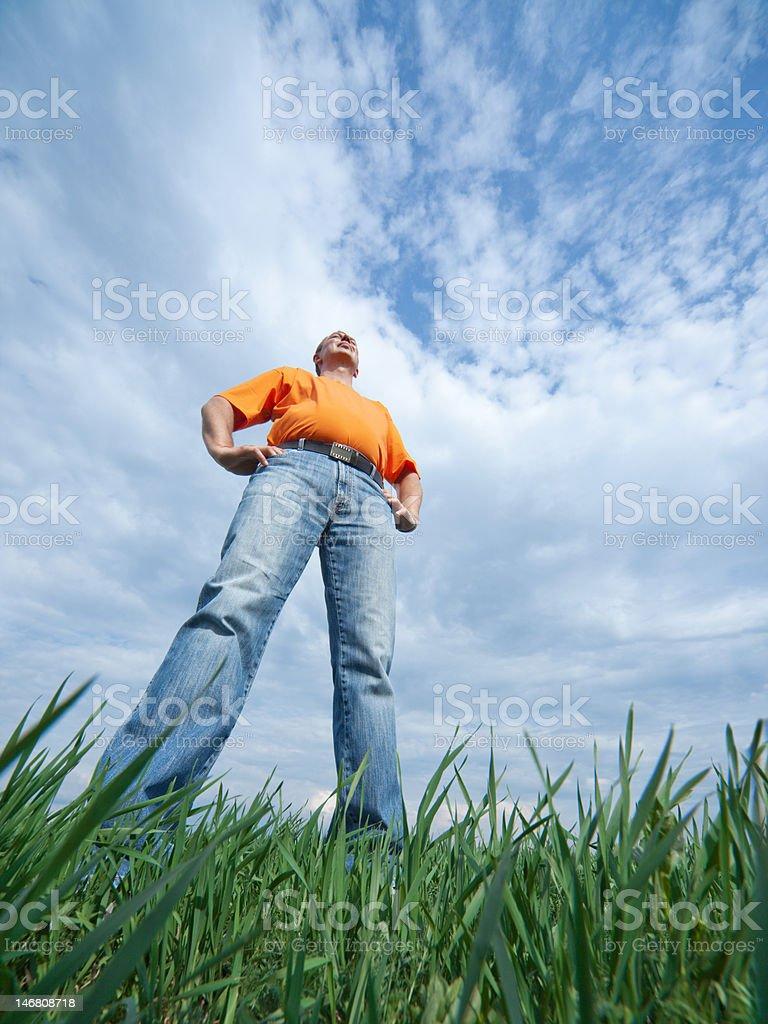 Tall man stock photo