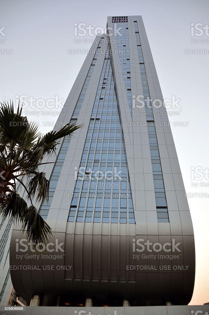 Tall modern buildings in Zhuhai, Guangdong, China stock photo