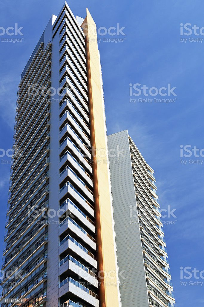 tall modern multistory house royalty-free stock photo