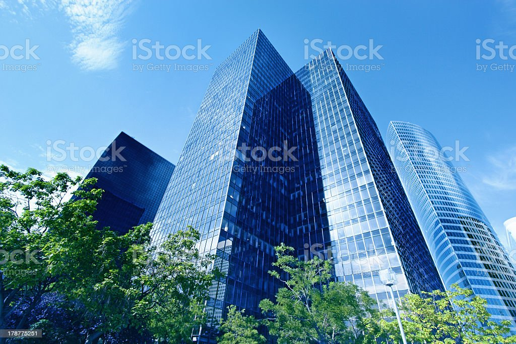 Tall office buildings on a sunny day royalty-free stock photo