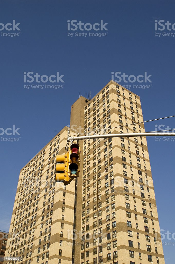 Tall residential building. Brooklyn. royalty-free stock photo