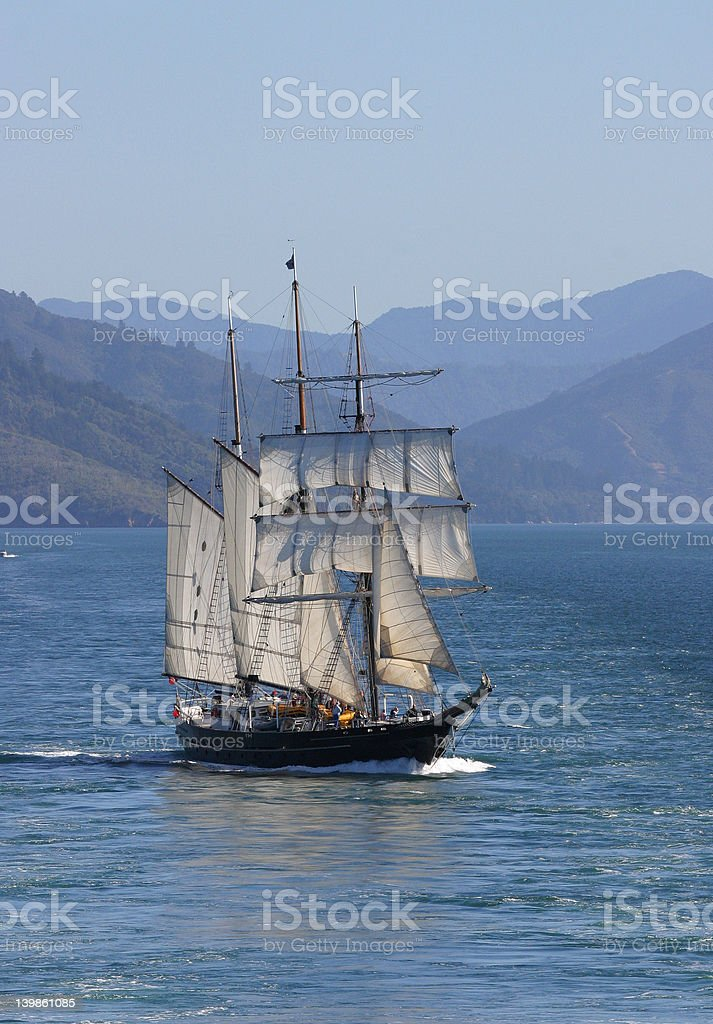 Tall Sailing Ship stock photo