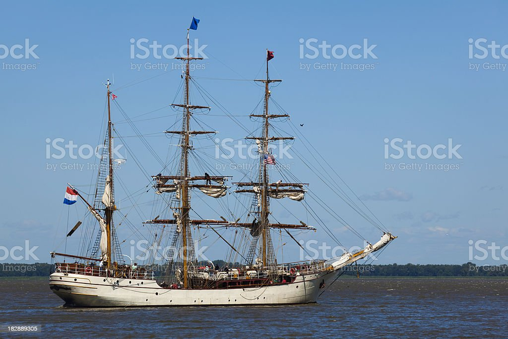 Tall Ship About to Set Sail royalty-free stock photo